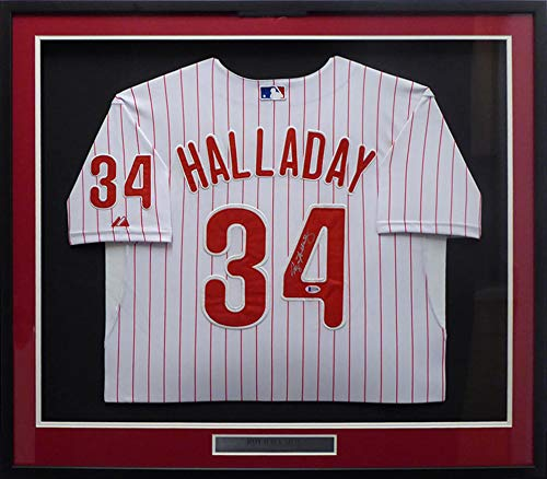 Philadelphia Phillies Roy Halladay Autographed Framed White Jersey Beckett BAS #F21098