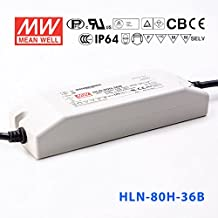 Meanwell HLN-80H-36B Power Supply - 80W 36V 2.3A - IP64 - Dimmable