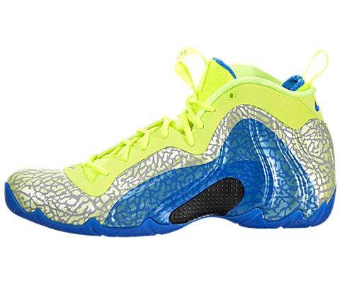 Nike Men's Air Flightposit Exposed Volt/Photo Blue/Black basketball Shoe 10 Men US - Mid Top Extension
