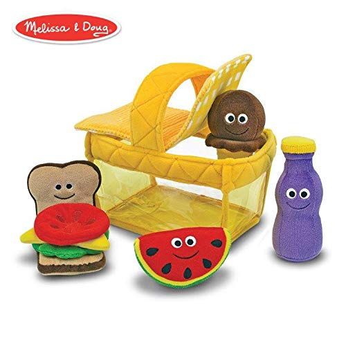 Watermelon Picnic Basket - Melissa & Doug Deluxe Picnic Basket Fill and Spill Soft Baby Toy