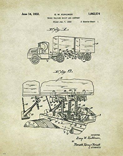 (Semi Truck Driver Motivational Patent Poster Art Print 11x14 Toys Parts Wall Decor)