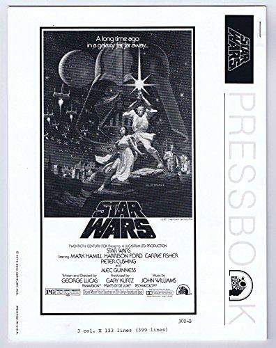 Star Wars 1976 Pressbook Black and White Predates Movie 20 Century Fox Vintage