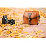 Topixdeals Vintage Camera Bag, DSLR Shoulder Camera Bag with Removable Inserts, Waterproof Shockproof Camera Case for Canon, Nikon, Sony, Pentax, Olympus, Panasonic, Samsung - Brown