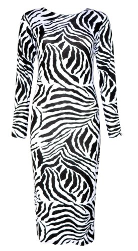 Zebra Print Long Dresses - 8