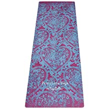 PeaceLoveYoga Mat. Luxurious Pro Yoga Mat. Eco-Friendly Natural Rubber. Non-Slip Mat w/ Towel Combo. Designed to Increase Grip with Sweat! Best for Hot Yoga, Bikram, Ashtanga. Reversible 3.5mmx70inch