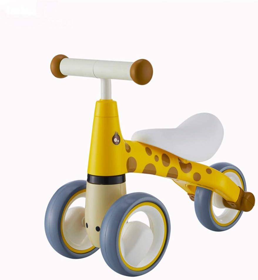 CCDYLQ Baby Walker Equilibrio de la Bici, mi Primera Bicicleta, Jirafa, sin Pedal de pie bebé y niño Paseo en Trike para Las Edades 12-36 Meses,Yellow