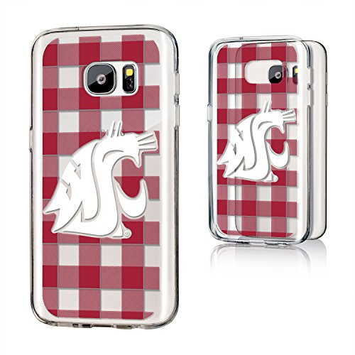 Keyscaper KCLRS7-0WST-ZPLAD1 Washington State Cougars Galaxy S7 Clear Case WSU Plaid ()