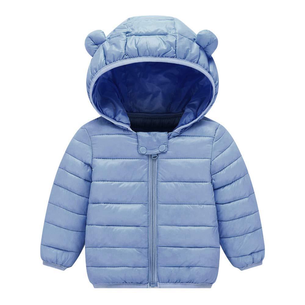 Dolwins Boys Girls Winter Coat Jacket Cute Bear Ear Hoodie Outerwear Snowsuit Kids