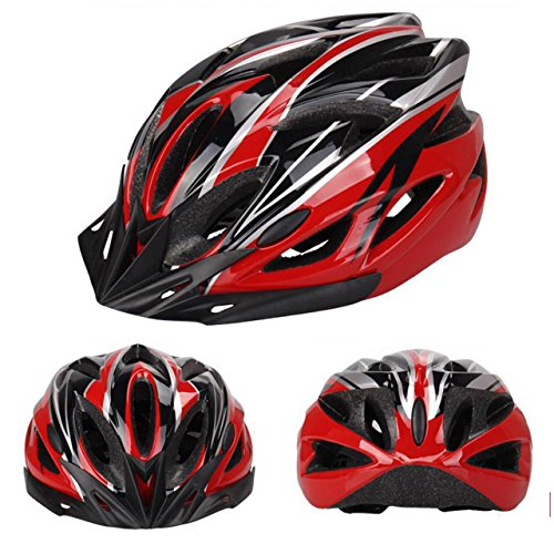 Newcomdigi Adult Cycling Bike Helmet Specialized for Mens Womens Safety Protection Black / Red / White