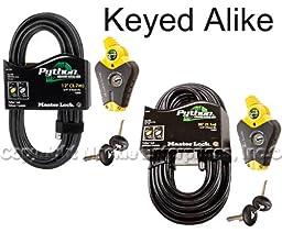 Master Lock - Python Adjustable Cable Locks 1-12ft 1-30ft