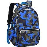 Kids Backpack Camouflage Bag for Kindergarten or Elementary School Boys Girls (Blue2)