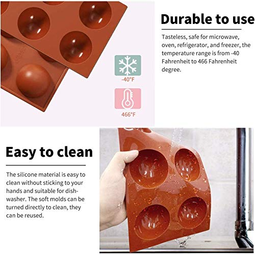 FADIKX Donuts Silicone Mold,Heart Cake Molds Round Shape Cake Molds Hot Chocolate Bomb Mold 3 Pcs Silicone Molds for DIY Cake Mousse Dessert Shaped Mould Candy Fondant Cupcake Cheesecake