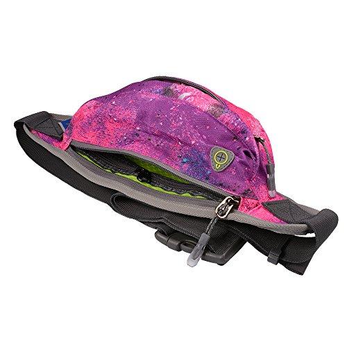 XCSOURCE Tanluhu il pacchetto della vita, sport cinghia di trasmissione regolabile, idrorepellente sweatproof Fanny Pack per camminare jogging in bicicletta Palestra stellata Rosa MT415