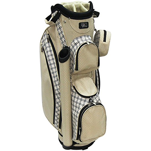 rj-sports-lb-960-ladies-cart-bag-with-3-pack-head-covers-9-sand-plaid