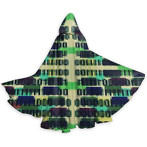 Mitta Yane Hooded Cape Traje de Longitud Completa de 8 bits Binary ...