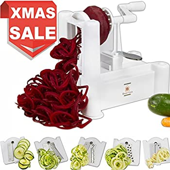 Brieftons 5 Blade Spiralizer (Classic): Strongest And Heaviest Duty  Vegetable