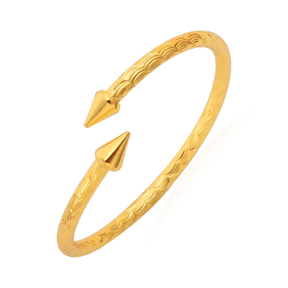 U7 Unisex Arrow Fancy Bracelets Platinum/18K Gold Plated Solid Bangle Cuff Bracelet U7 Jewelry U7 H375K