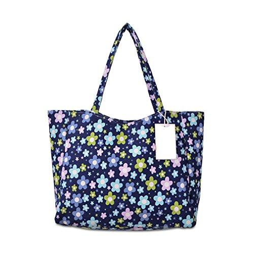 Borsa Stampata Sunflower Impermeabile Spiaggia Fgchfg Floral Della Tela Blue Da Lampo Chiusura Floreale dgwqOFO