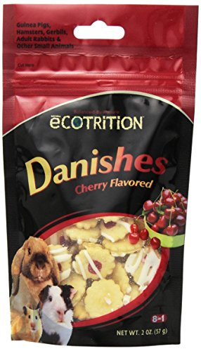 eCotrition EC-84211 2-Ounce Danishes Animal Treat, Small, Cherry Flavored
