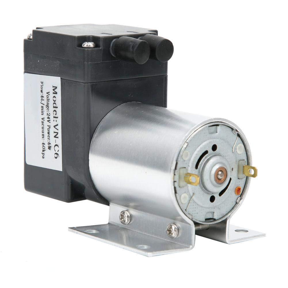 Vacuum Pump, VN-C6 Vacuum Vacuum Suction Pump with Stand -60kpa 5W 7L / min DC12V / DC24V, Noise: <60 dB, Outside with 10mm air Pipe, Suction Pump Mini Vacuum Pump(DC24V)