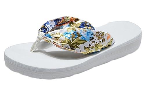 Scothen Sandalias las mujeres, plataforma cuña del flotador Faldas playa Zapatos de playa Casual Zapatos