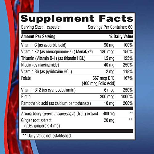 Weider Expect More Artery Health with Vitamin K2, 60 Veggie Caps