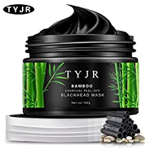 TYJR Blackhead Remover Black Mask Cleaner Purifying Deep Cleansing Blackhead Black Mud Face Mask Peel-off 100ml