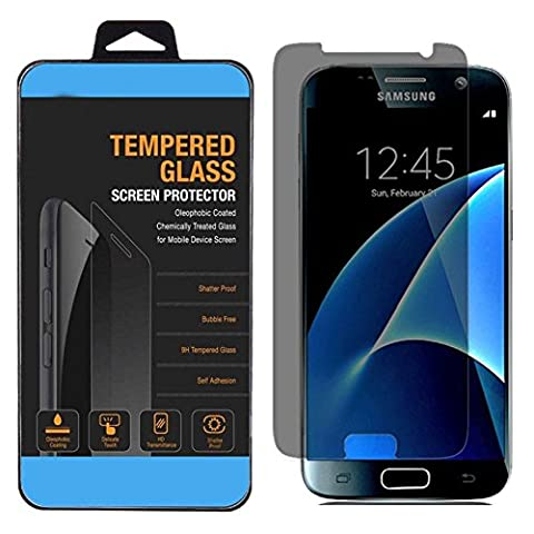 Galaxy S7 Screen Protector,WONFAST®[Bubble-Free] [Scratch-resistant] [9H Hardness] Privacy Premium Tempered Glass Screen Protector for Samsung Galaxy S7 with Lifetime Warranty (Privacy Screen For Not)