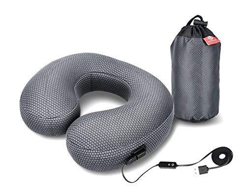 Graphene Timesインフレータブル旅行枕 – Heated首枕ネック療法の調整可能な温度、インフレータブルU形状飛行機枕withパッキングバッグ、完璧SoreまたはPainfulネック B07CM3HZHN