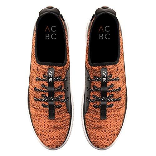 Chaussure De Course Acbc Sneakers Avec Semelle Blanche Et Orange Avec Fermeture À Glissière