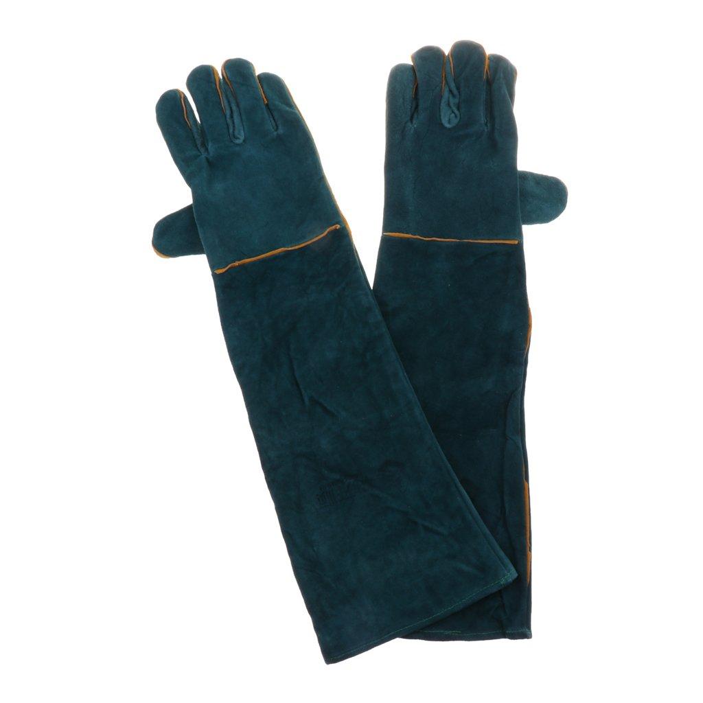 MagiDeal Anti-bite Scratch Gloves For Snake Lizard Animal Handling Protection Gloves