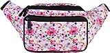 SoJourner Floral Fanny Pack - Cute Packs for men, women festivals raves | Waist Bag Fashion Belt Bags (pink)