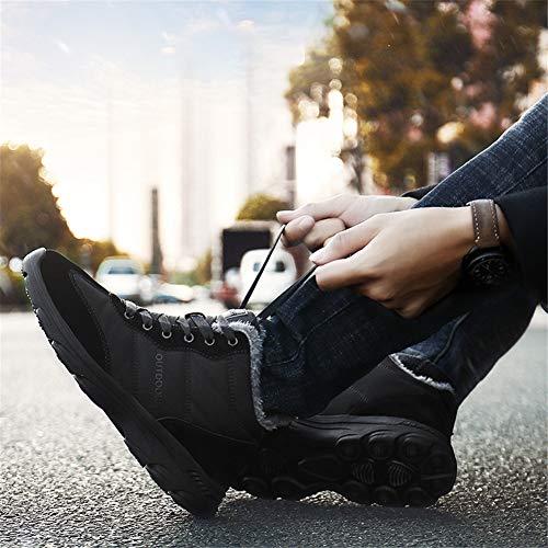 1 Imperméable Confortable 36 Bottes De Homme 46eu Chaussures Noir Chaudes Hiver Randonnée Femme Neige Fx1BT