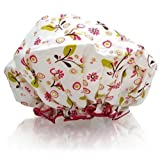 Spa Sister Bouffant Shower Cap, Olive Leaves