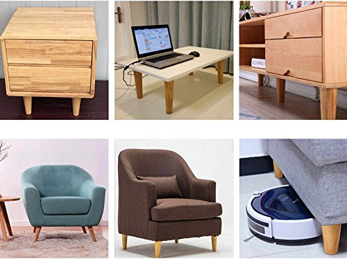 Wood Furniture Legs Cabinets Sofa Feet 2 Inch 4PCS Solid Wood Color Tapered
