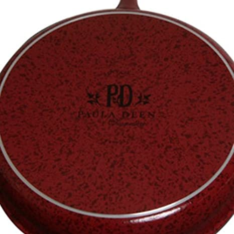 Amazon.com: Firma porcelana antiadherente de 9 pulgadas y 11 pulgadas antiadherente Sartén Twin Pack, Rojo moteado: Home & Kitchen