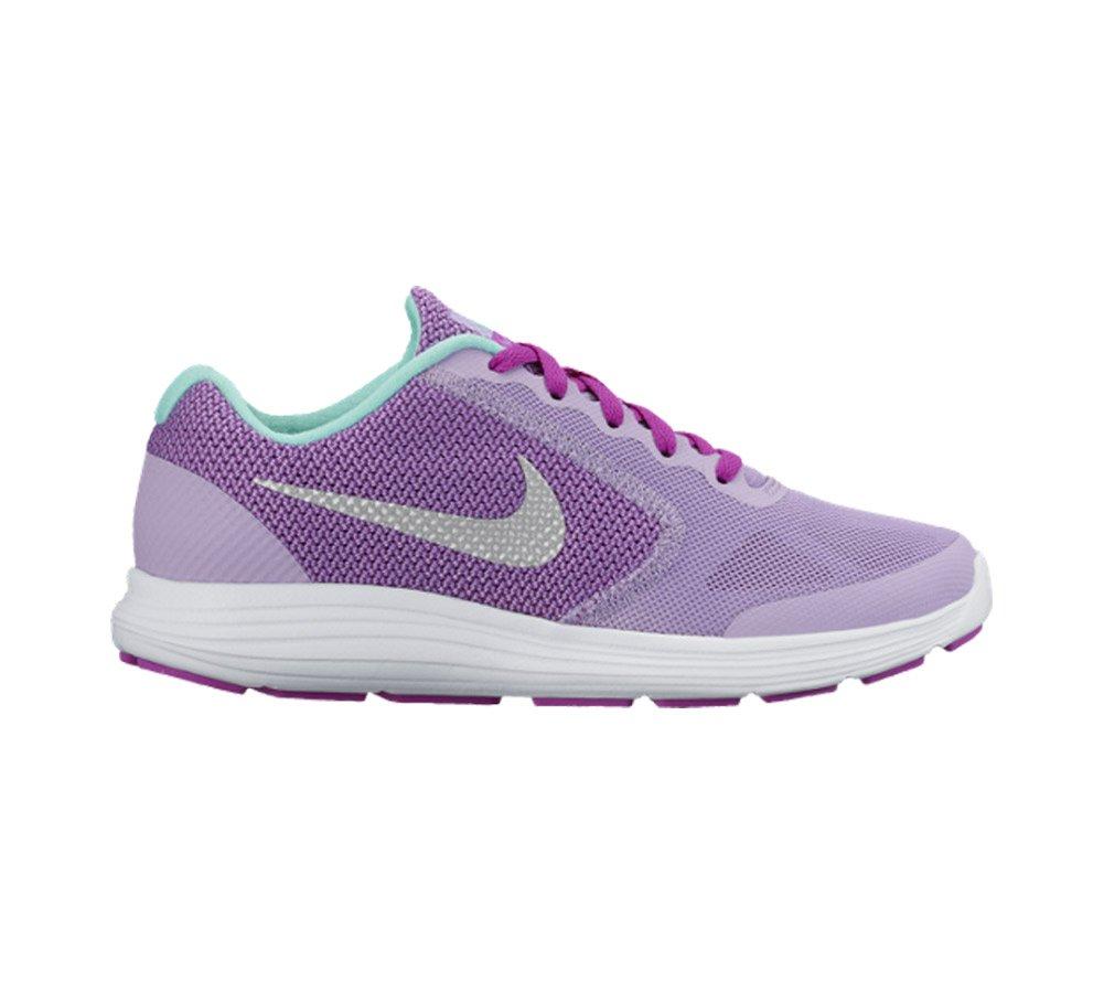 NIKE ' Revolution 3 (GS) Running Shoes B014TMR750 5.5 M US Big Kid|Urban Lilac/Metallic Silver/Hyper Violet