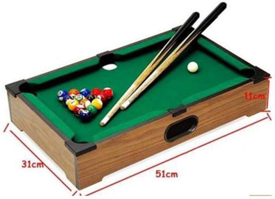 YuYzHanG Mini Mesa De Billar Mini Mini Mesa De Billar Juego De Mesa De Billar Juguetes Mesa De Billar Table Top Pool Game (Color, Size : 31x51x11cm): Amazon.es: Hogar