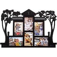 Smera Plastic Photo Frame (Photo Size - 15 * 10 cms, 6 Photos),Black