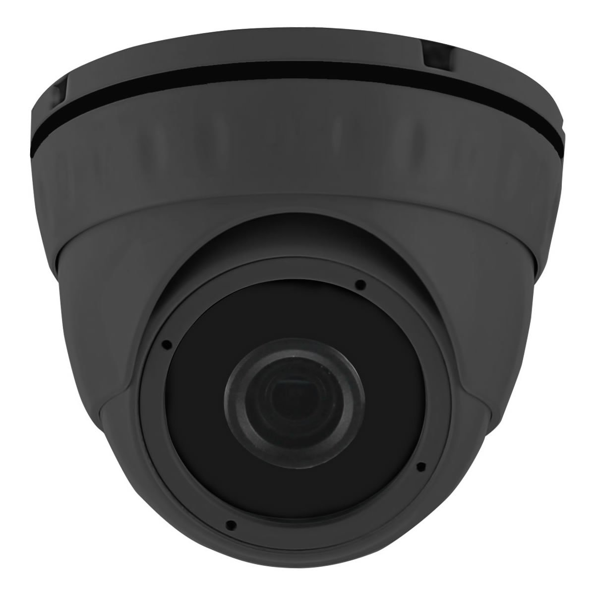 HDView 2.4MP 4-in-1 HD (TVI/AHD/CVI/960H) 1080P Outdoor SONY Sensor Wide Angle 2.8mm Lens Black Film Technology Better IR Night Vision Turbo Platinum Dome Camera Grey by HDView