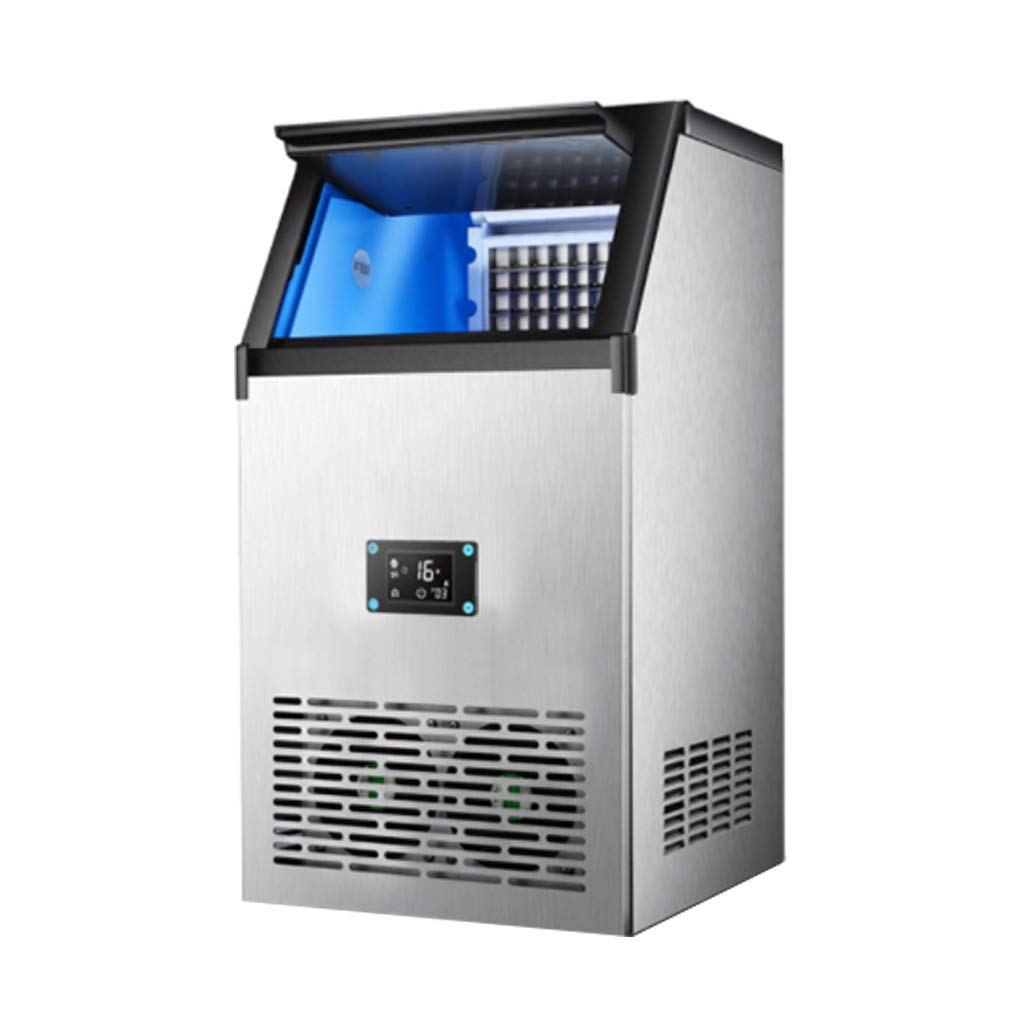 WHJ@ Ice Machine Commercial Ice Machine Large Ice Machine Ice Machine Bucket Water Water Blue Light Sterilization Fast Ice Production Full Automatic by WHJ-Ice maker