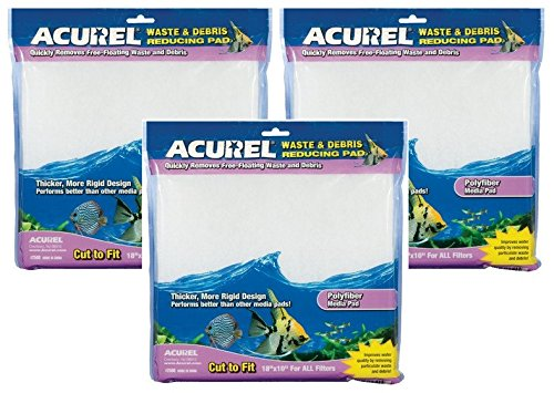 (3 Pack) Acurel Waste and Debris Reducing Media Pad by Acurel