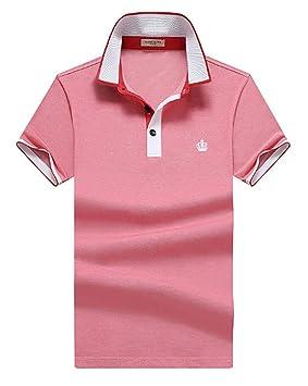 TMBDYE Camisa Polo para Hombre 2019 Verano Solapa Negocio Color ...