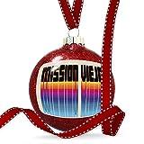 Christmas Decoration Retro Cites States Countries Mission Viejo Ornament