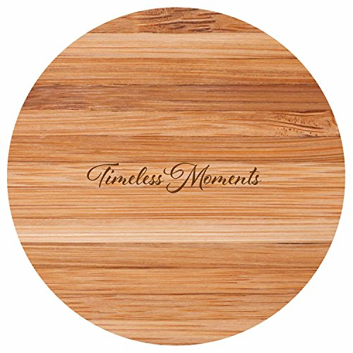 Teabloom Eco-Friendly Bamboo Trivet - Heat Resistant, Durable and Beautiful Round Wood Trivet Helps Protect Tabletops & Counters, 6.25 Inches in Diameter