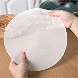 Rurah Kitchen Silicone Steamer Mesh Mats, Reusable Non-Stick Round Steamer Pad, Steamed Buns Baking Pastry Mat,24cm