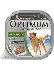 OPTIMUM Adult Lamb and Rice Wet Dog Food 100g Tray, 12 Pack