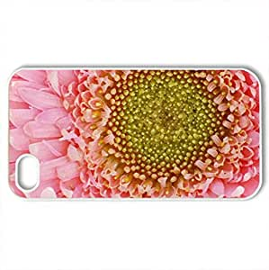 PINK PETALS - Case Cover for iPhone 4 and 4s (Flowers Series, Watercolor style, White)