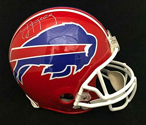 JIM KELLY BILLS AUTOGRAPHED FULL SIZE FS AUTHENTIC PROLINE HELMET JSA COA
