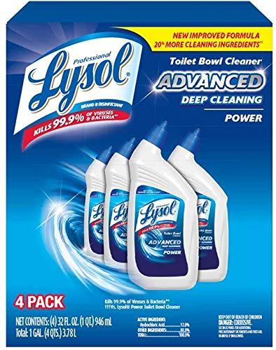An item of Lysol Advanced Deep-Cleaning Toilet Bowl Cleaner, 4 pk./32 oz.- Bulk